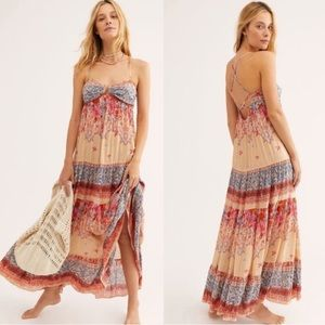 NWT Free people give a little maxi dress